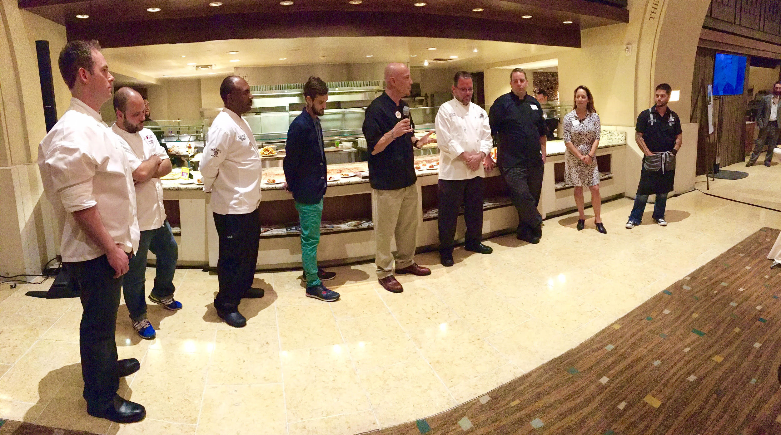 Louisiana Top Chefs represented from left: The North Shore, Shreveport, Lake Charles, Lafayette, Alexandria, New Orleans, Lake Charles, and Baton Rouge.