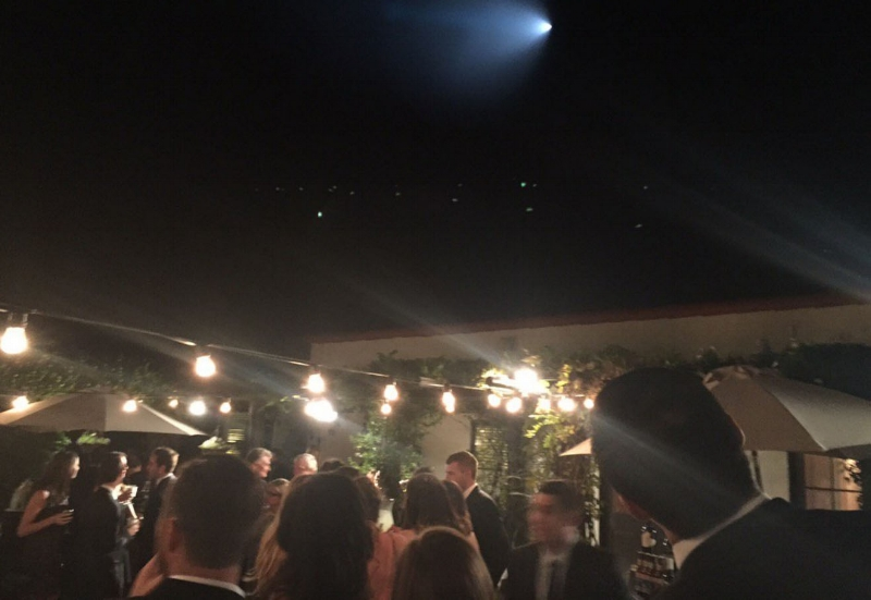 Los Angeles residents at an outdoor wedding in Palos Verdes Estates caught a sight of the spectacle (Credit: Oleslie18 - via Twitter )