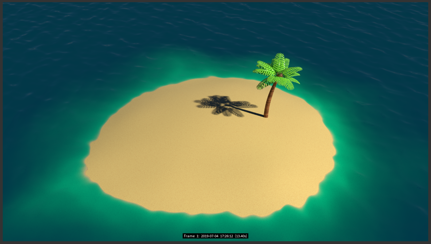 A little island in the sun