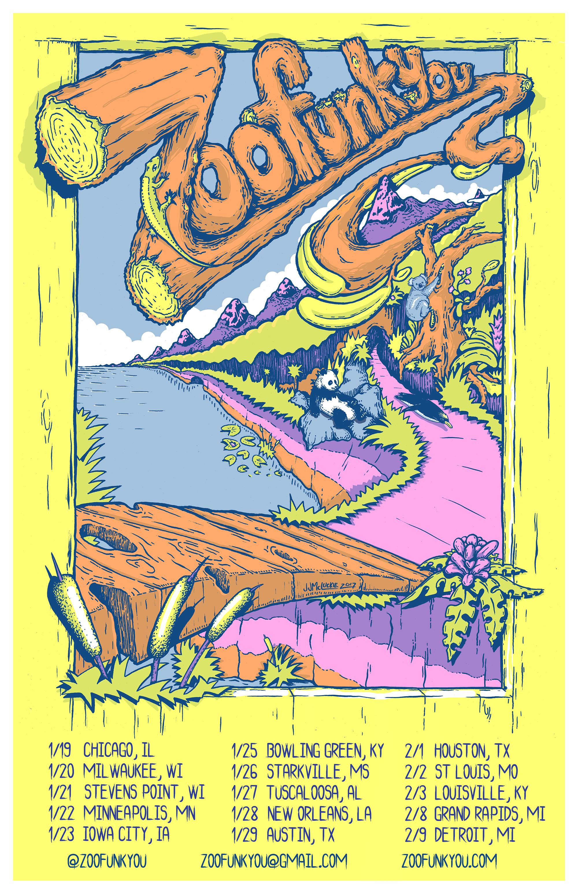 Zoofunkyou Winter Tour Poster