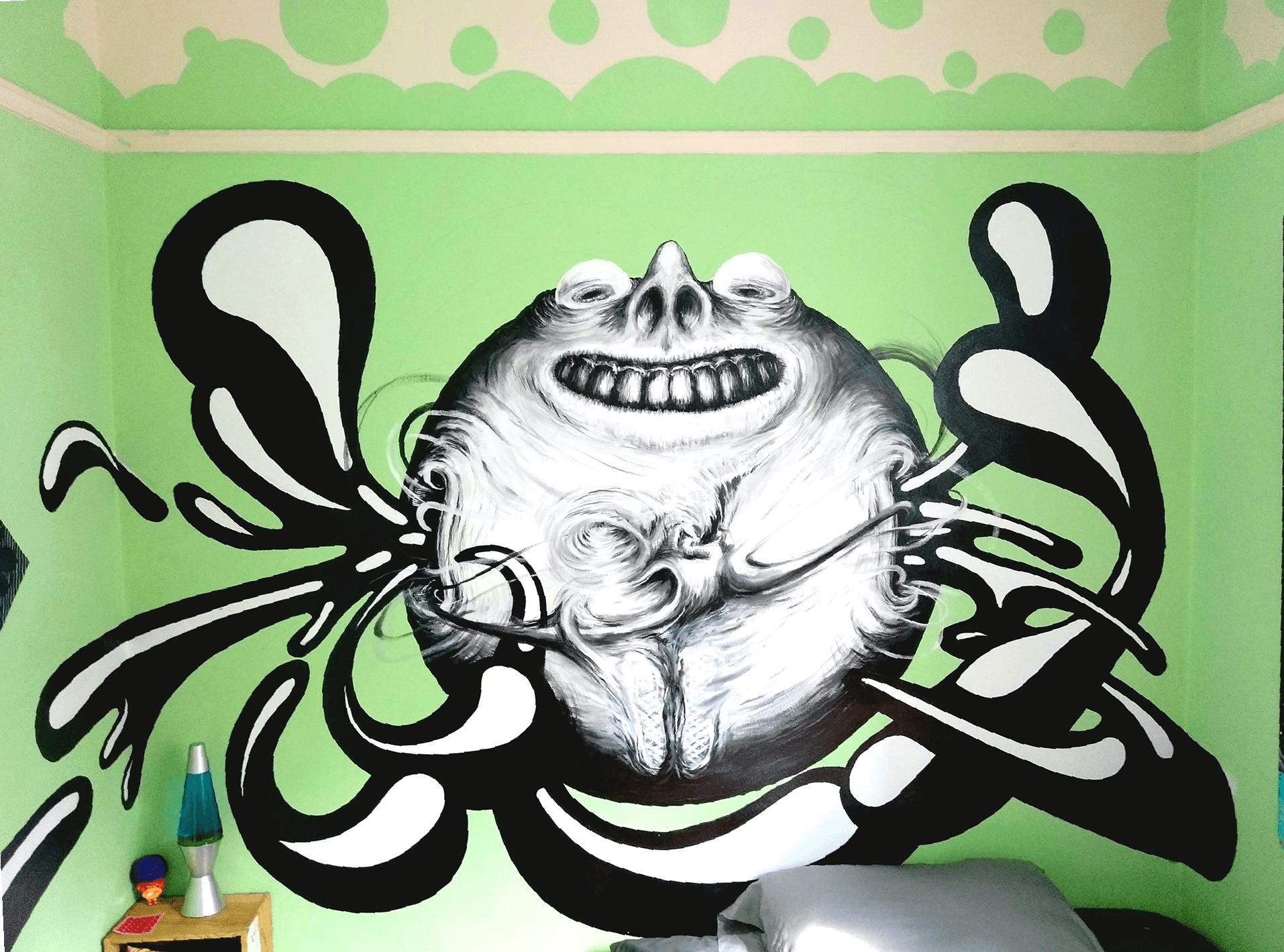 Bedroom Bubble Mural
