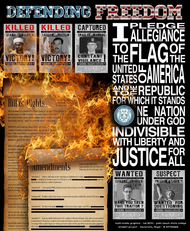 Defending Freedom : Original poster layout.