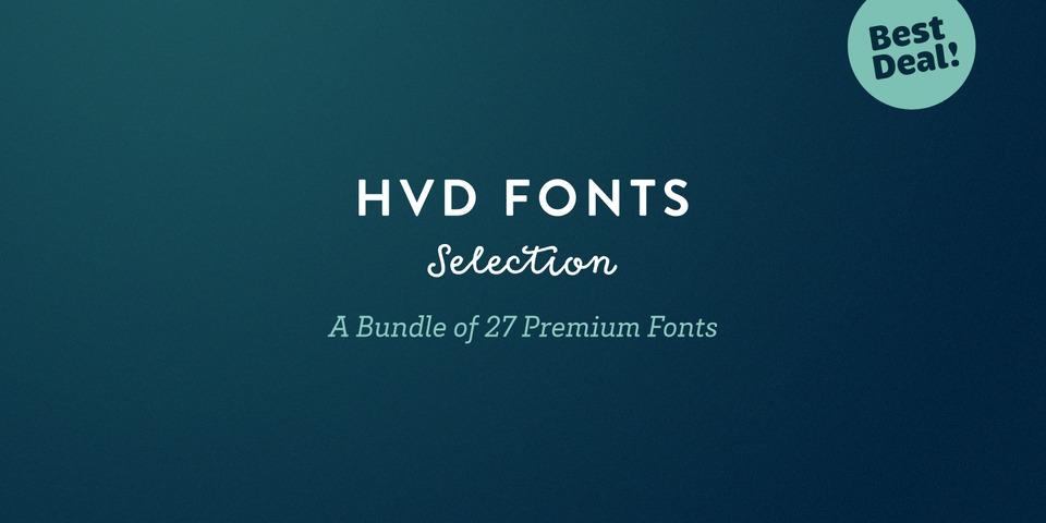HVD Fonts Selection Bundle via  MyFonts.com