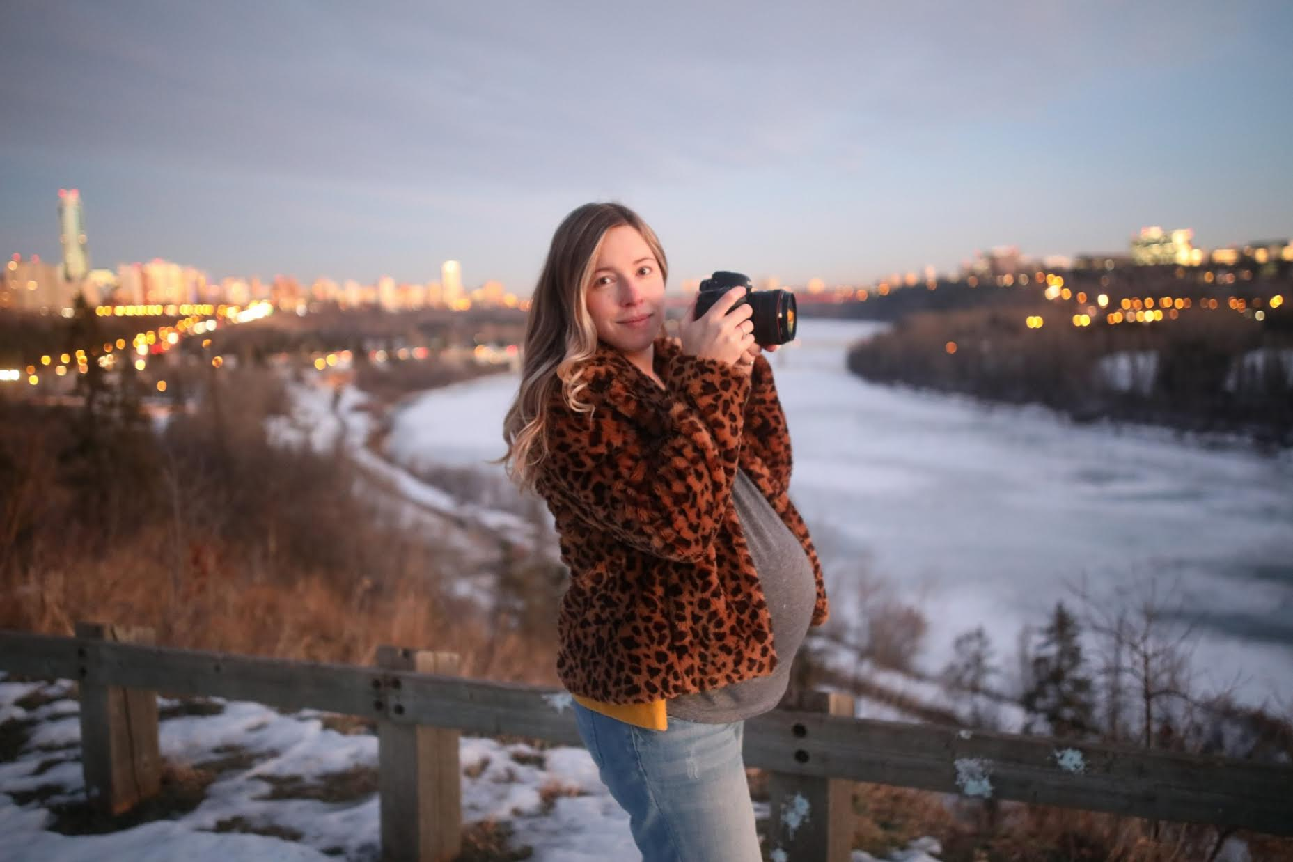 Shooting at dusk with my brother at 40 weeks and two days, 14 hours before going into the hospital to be induced. Photo: Jon Curow