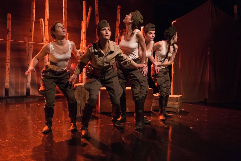 The young heroines - Sonia, Kirianova, Lisa, Rita, Galia | Courtesy of Ici Les Aubes Sont Plus Douces