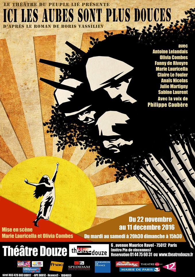 The poster of the play | Courtesy of Ici Les Aubes Sont Plus Douces