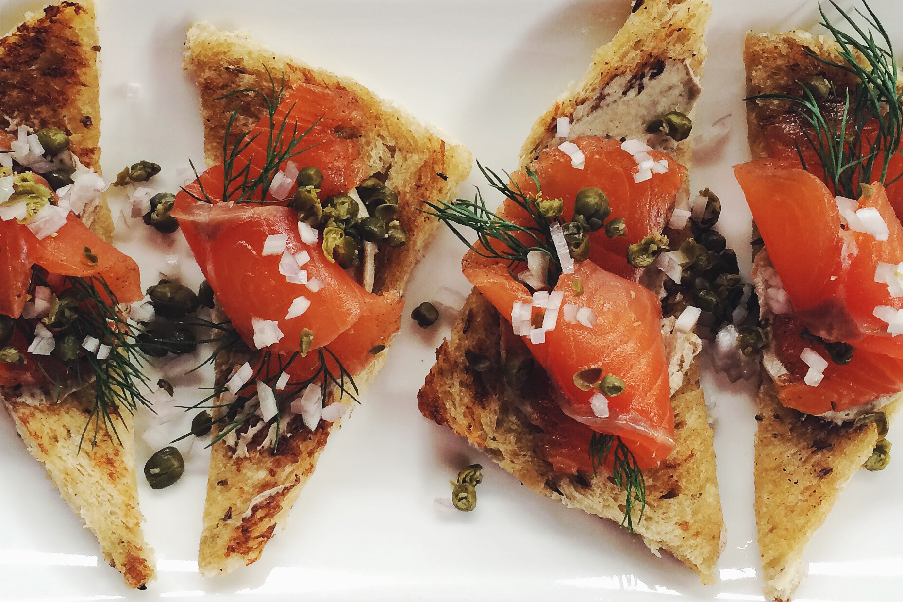 Smoked Salmon on Rye Toast