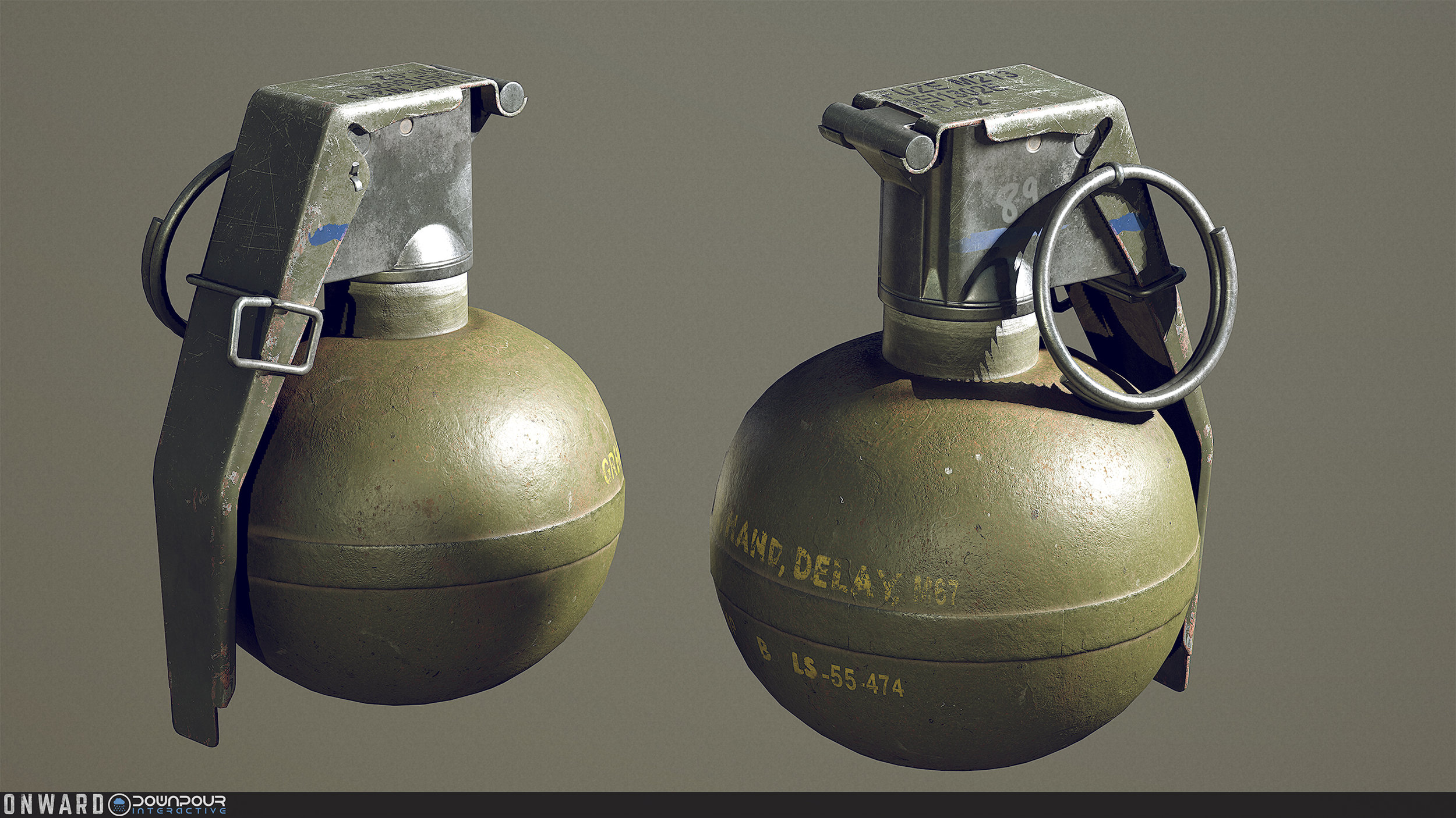 New replacement model for the frag grenade.