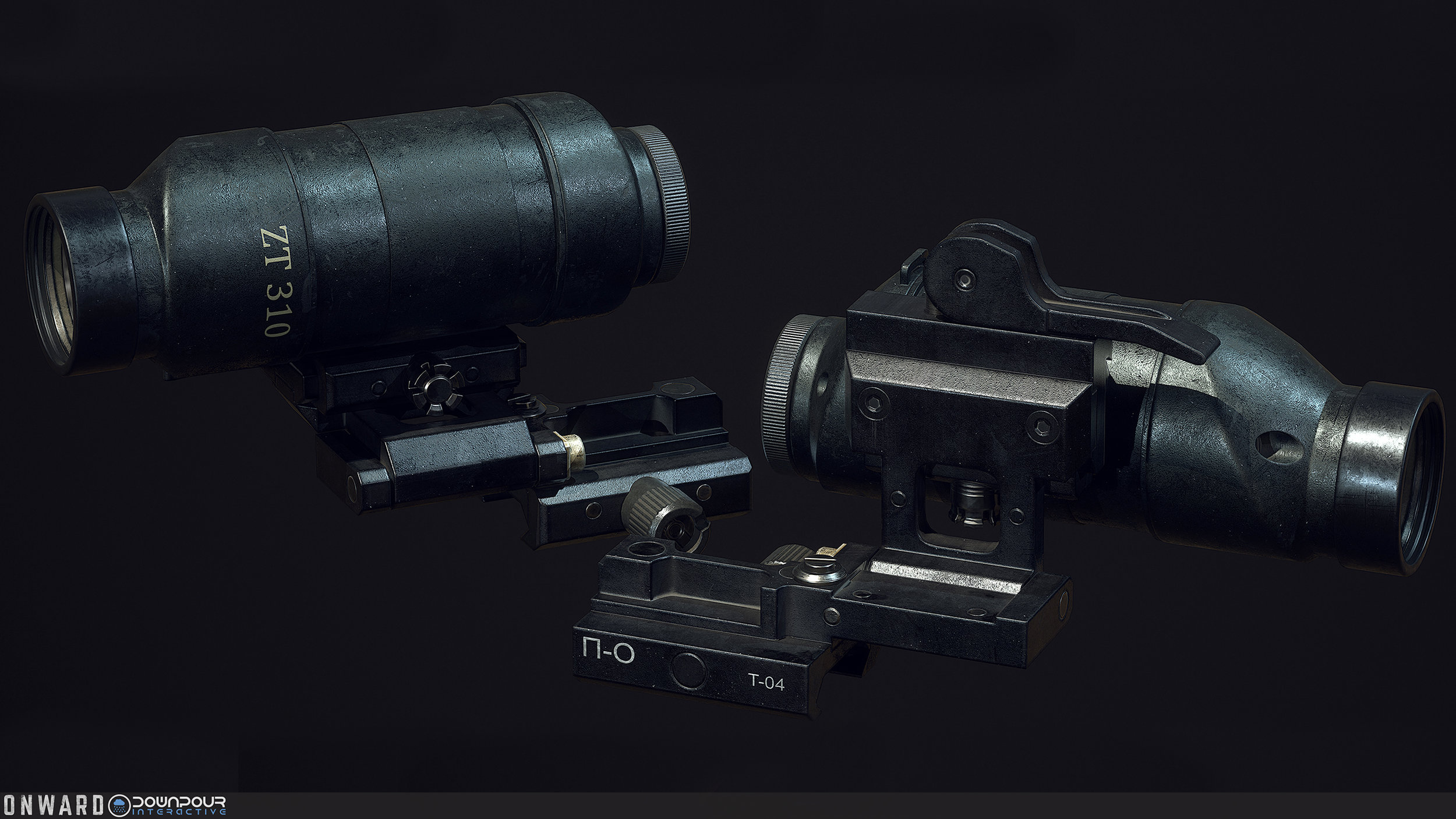 The new flip-up magnifier, used with the new holographic sight on the volk team.