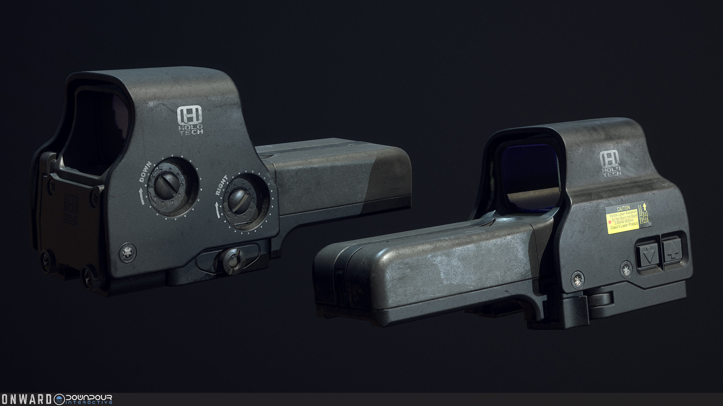The new holographic 518 sight, replacing the current MARSOC holographic sight model.