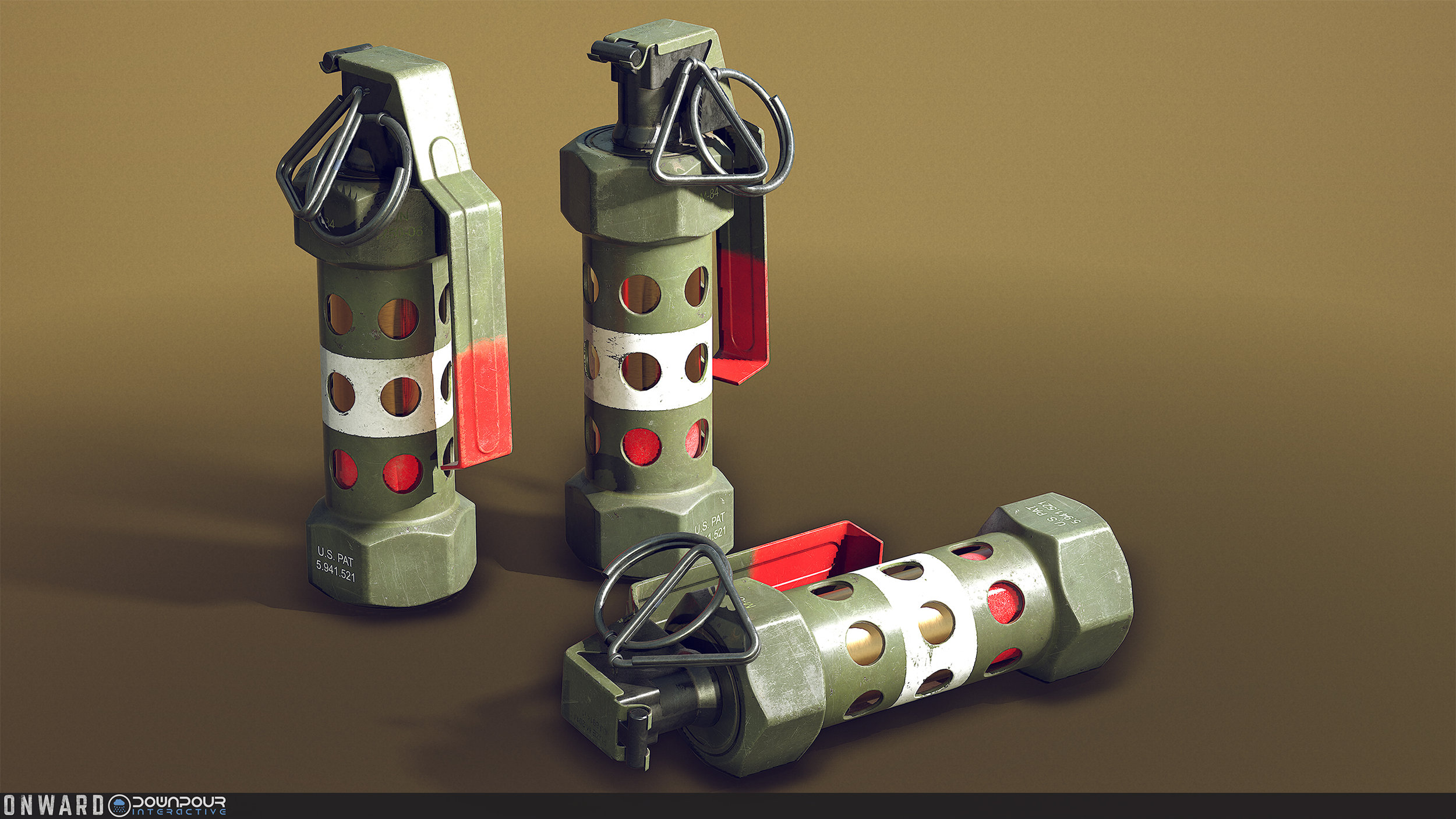 New replacement model for the Flash Grenades.