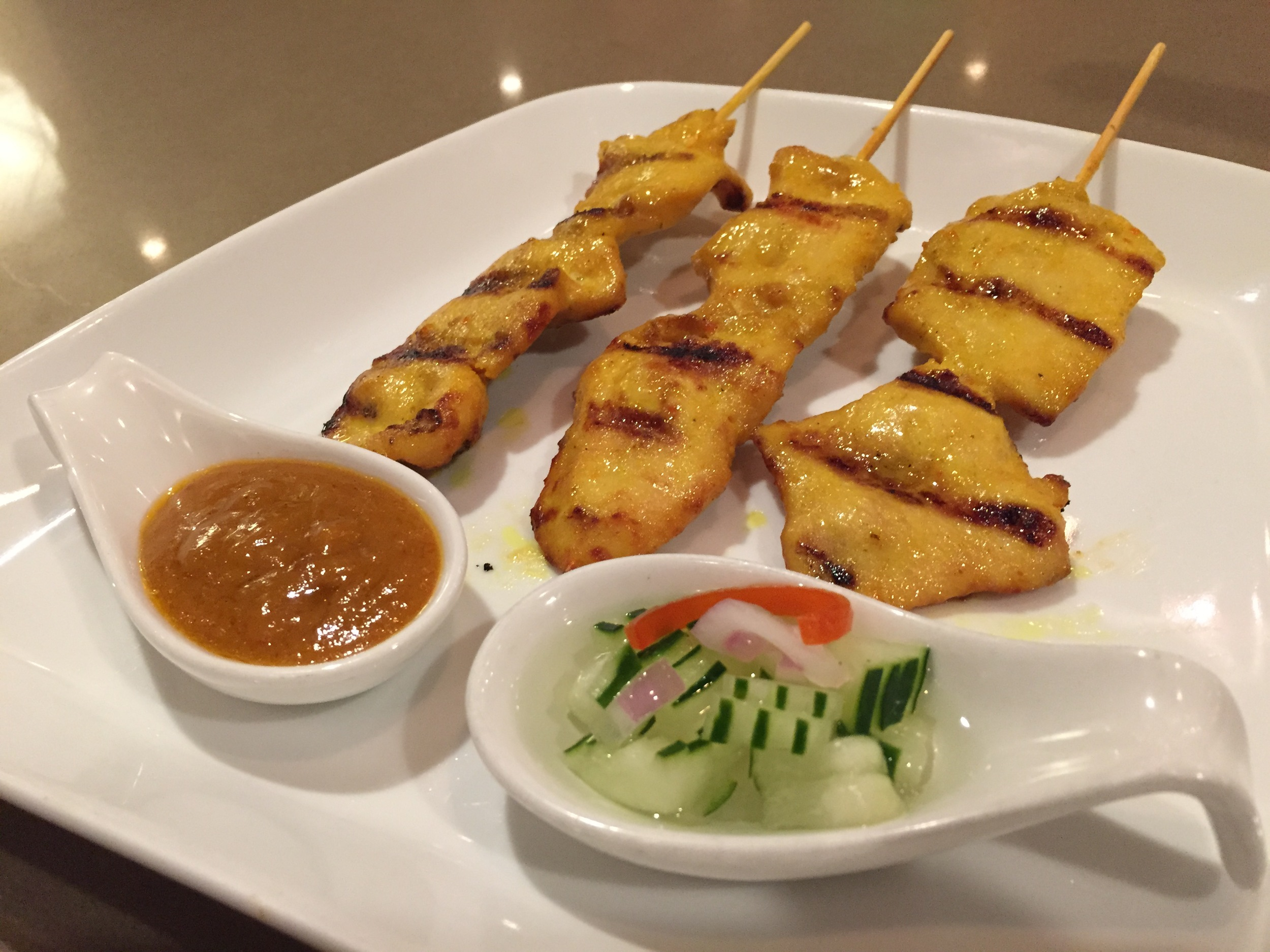 Chicken Satay is also on our Happy Hour menu at only $4