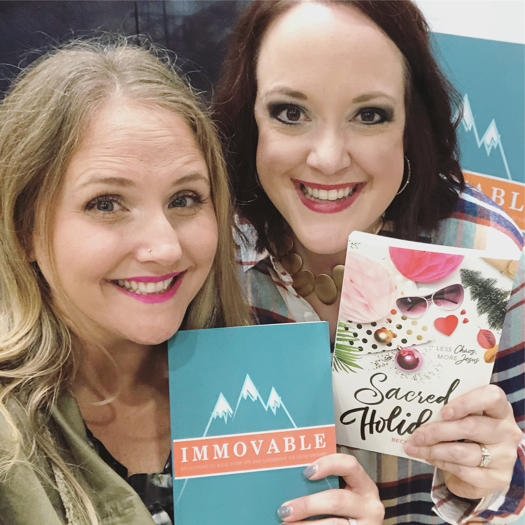You could win both of these! (Left - Becky Kiser, author of Sacred Holidays.)