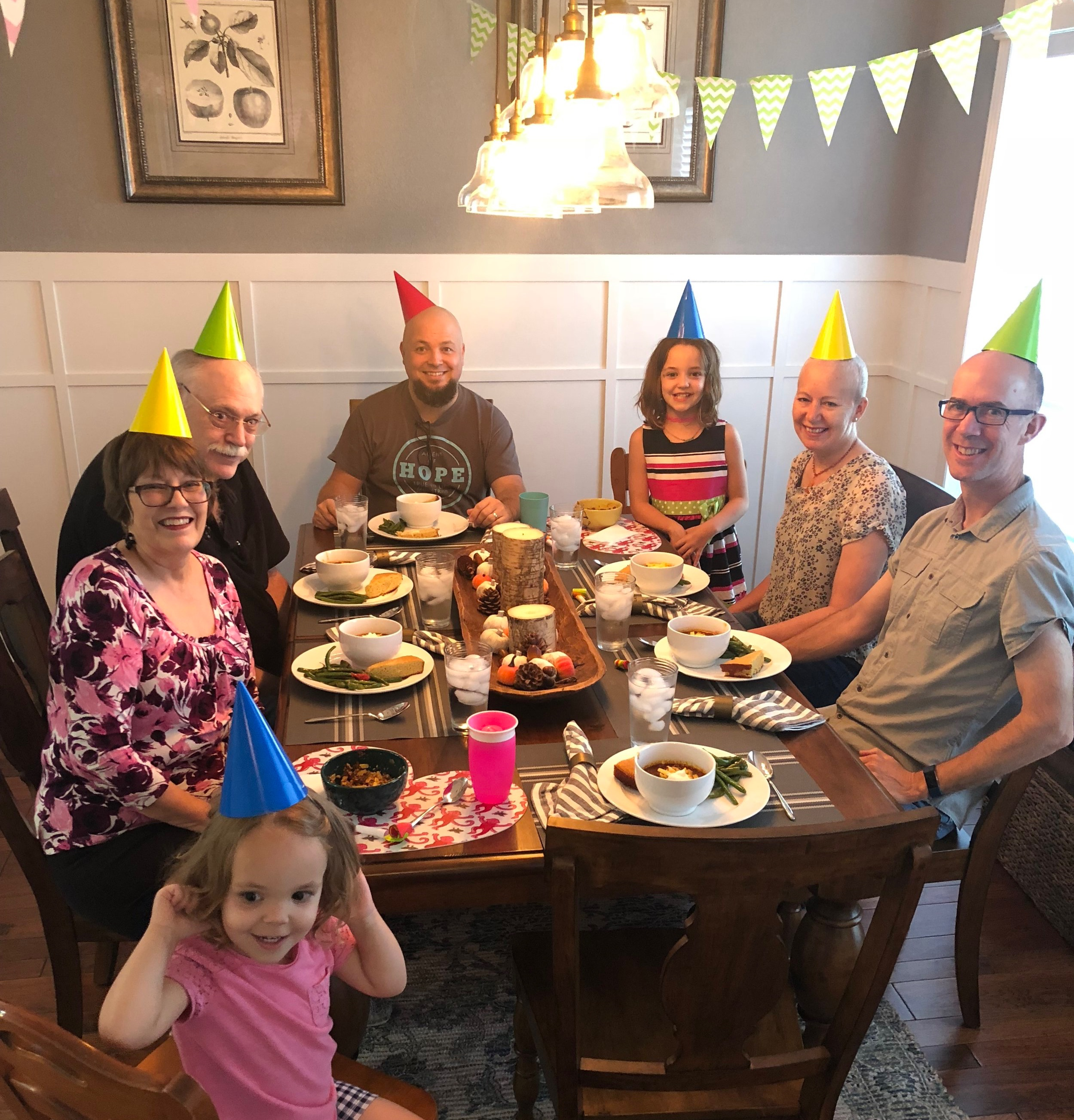 """Celebrating our dear friend's """"Cancer Free"""" report - you can probably guess the HIGHS from this dinner!"""