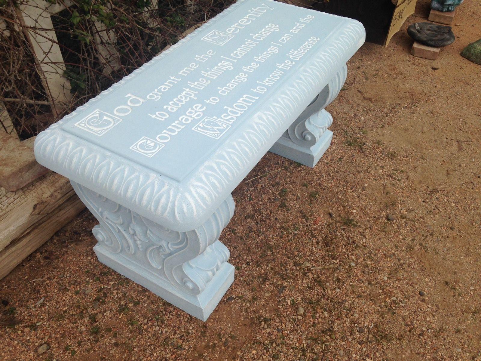 Serenity Concrete Bench
