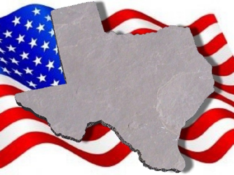 State of Texas Plain Concrete Stepping Stone Mold