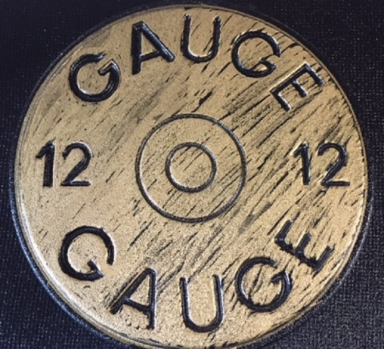 12 Gauge stepping stone mold.