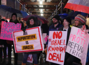 Protest Against Israeli Migrant Deportation