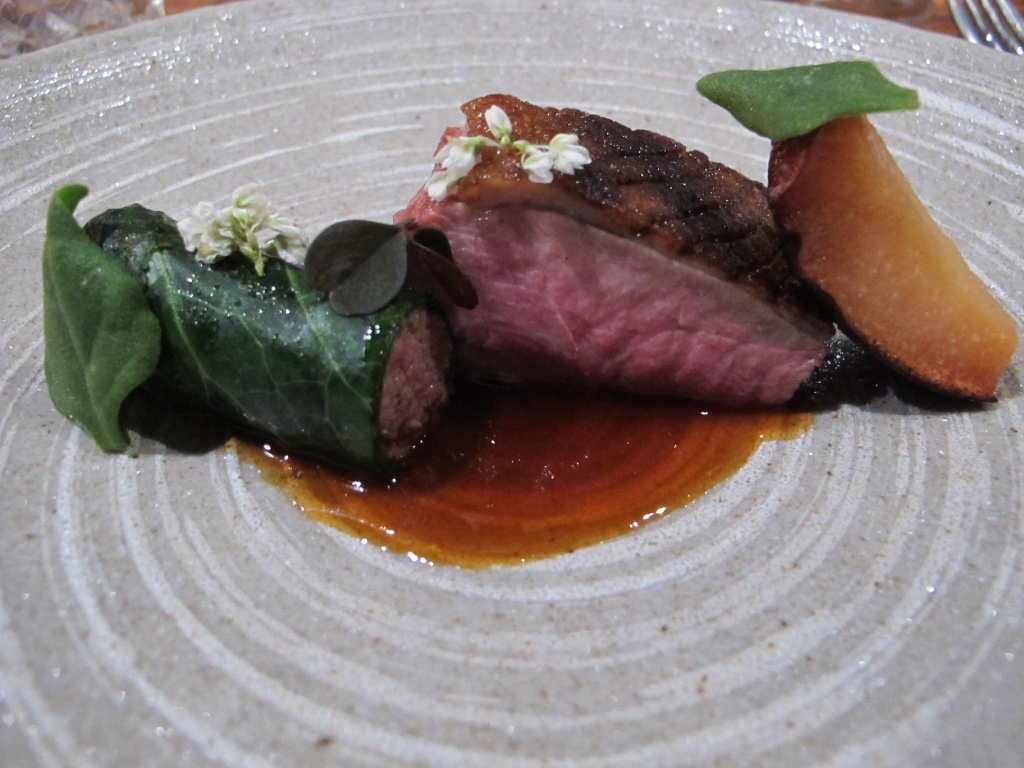 Grilled Aged Duck with Quince