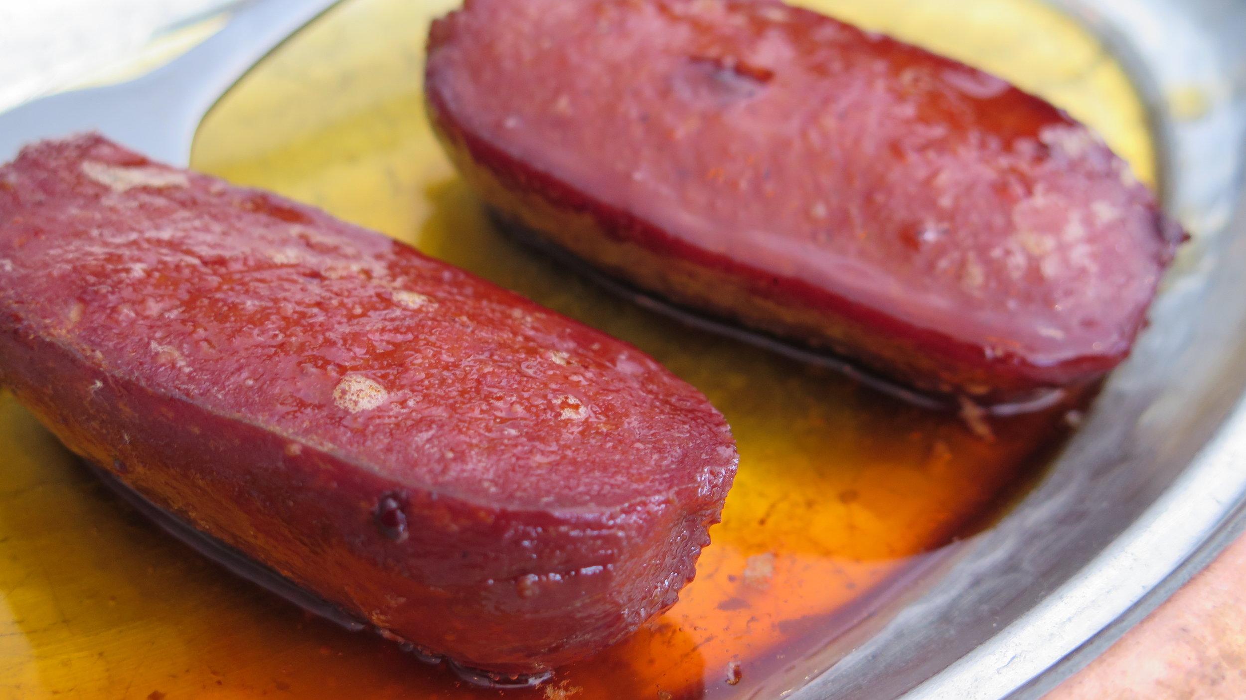 Soujuk - a dry, spicy Turkish Sausage