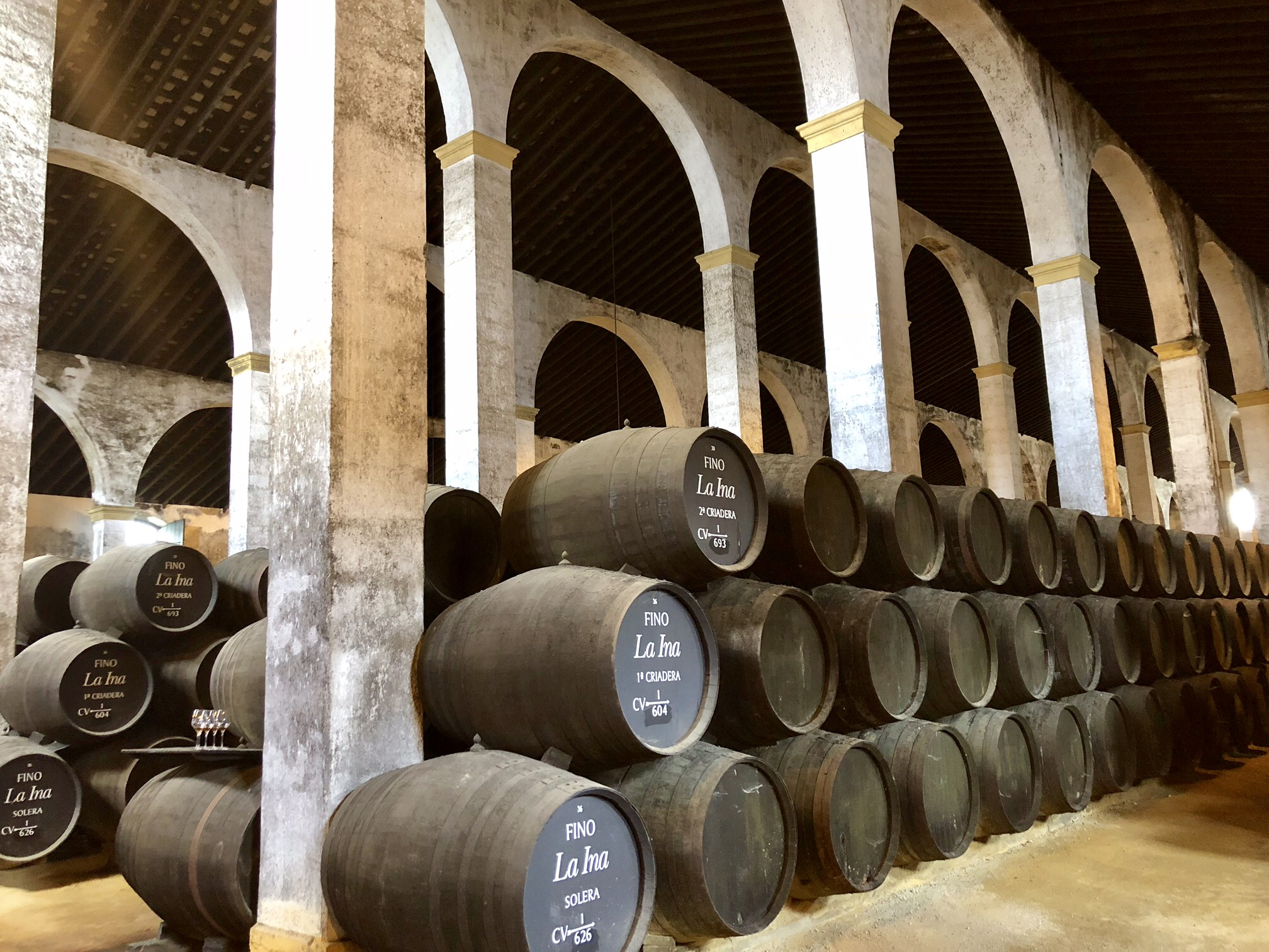 Lustau's typical cathedral-like bodega is ideal for temperature and humidity control to age sherry