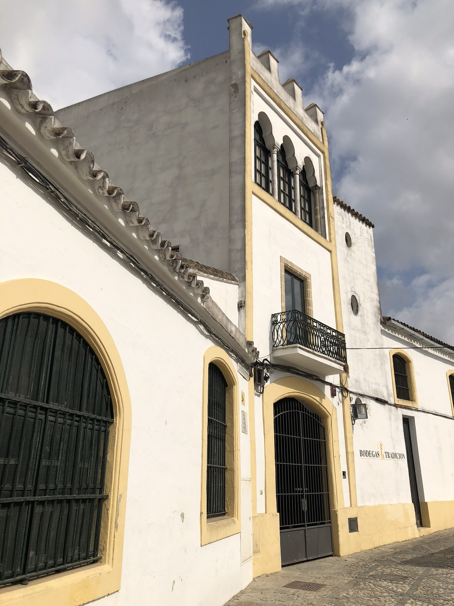 Bodegas Tradicion after the tour on September 3, 2018