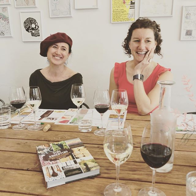 Whoa. These two, @lauracatenamd of @catenawines and @withtwoforks of @vine_connections: Incredible women with amazing origin stories who spoke yesterday for the @batonnage_forum Discussion Series at @baygrape. As usual, @steviestacionis hosted and provoked insightful conversation. And this time I finally got to meet @nibblinggypsy! . . With Laura's book, Vino Argentino (@chroniclebooks) in hand this morning, I am dreaming up a trip to Argentina to visit the high altitude vineyards where Laura and her family are making beautiful wines, including the Old Vine Malbec from Luca we sampled yesterday - and that came home with me. I only wish I had some Empanadas - preferably from and with @jezabelcareaga - to aid my research as I plot my journey. . . #argentina #mendoza #batonnageforum #baygrape #batonnage2019 #discussionseries #sundayschool #winelover #malbec #wine #highaltitudewines #lauracatenamd #vinoargentino #winetravel #southamericanwine #kismet #womeninwine #womeninwinebusiness #womensupportingwomen #kickasswomen