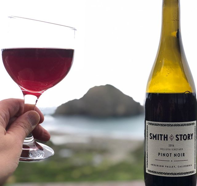 Cheers to the Mendocino coast and a little @smithstorywines Pinot Noir ... moments before streaming the next to last @gameofthrones episode. Thanks for the delicious fermented grape juice from the #helluvavineyard, Eric and Ali!