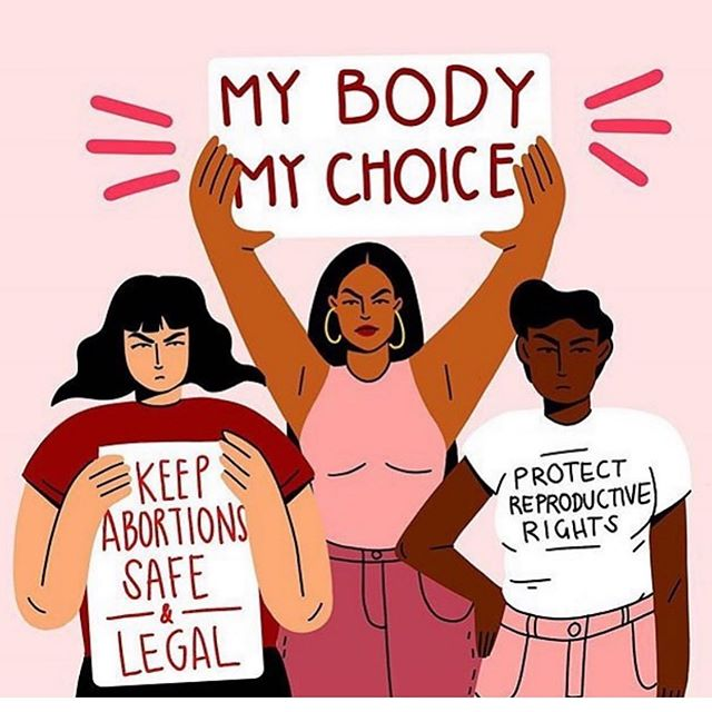 Today is the National Day of Action to protest the state laws restricting a woman's right to control her own body. Stop the Bans. If you can't make it to a protest today in your area, stand in solidarity by voicing your support or donating to one of these causes to help fight the good fight: @plannedparenthood @ppact @aclu_nationwide @yellowfund and become a member of @supermajority to be sure we amplify their messages and elect candidates who will protect women's rights.  Beautiful artwork by @thestudio.g.