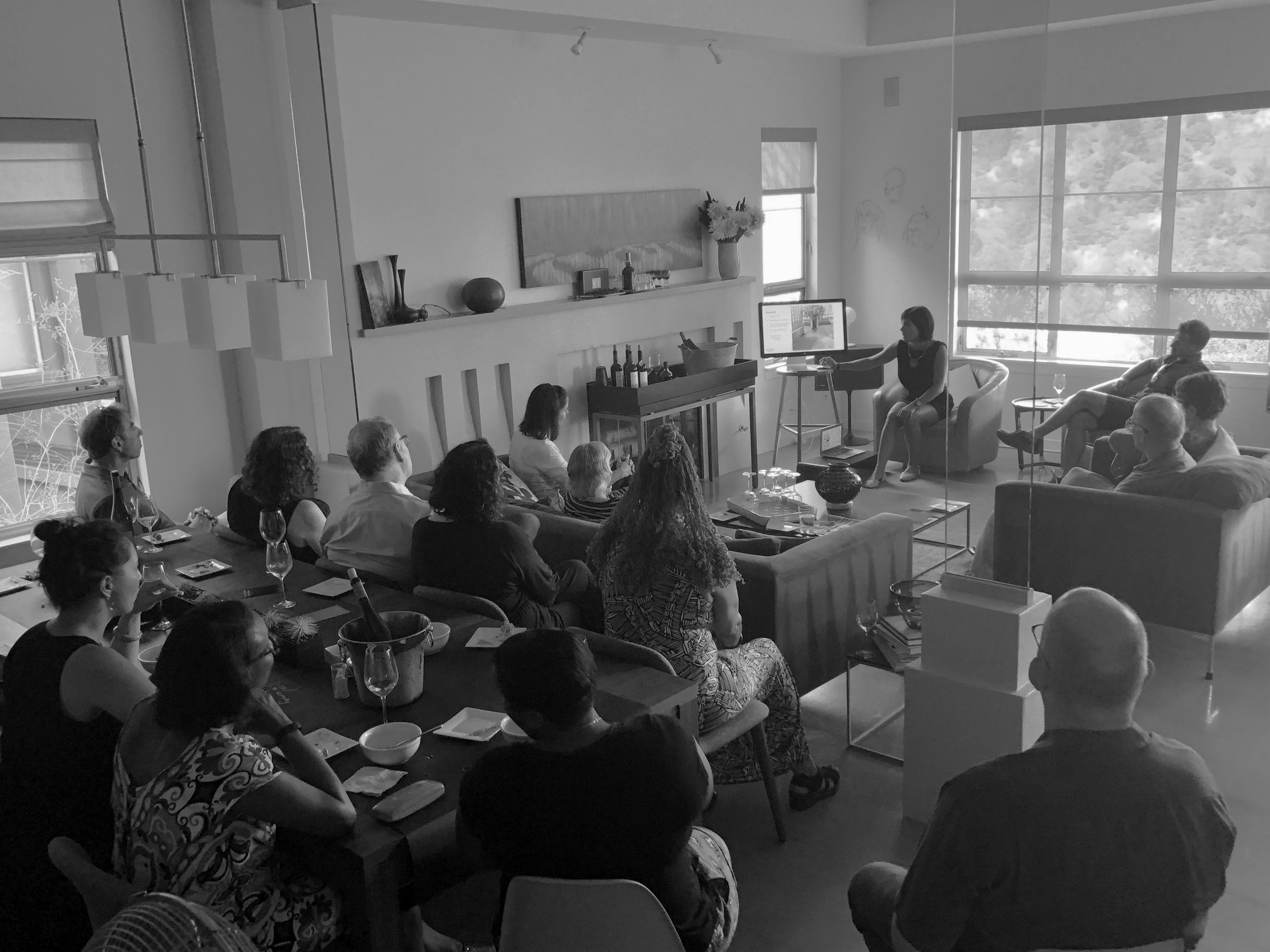 Rachel Miers of Rachel Farah Selections conducts Portuguese Wine Education + Tasting at Wine for Change Event