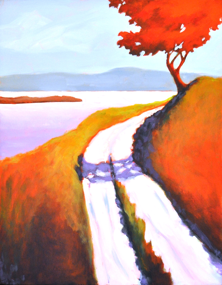Around the Bend,  2015 Acrylic on canvas 30 x 24 inches