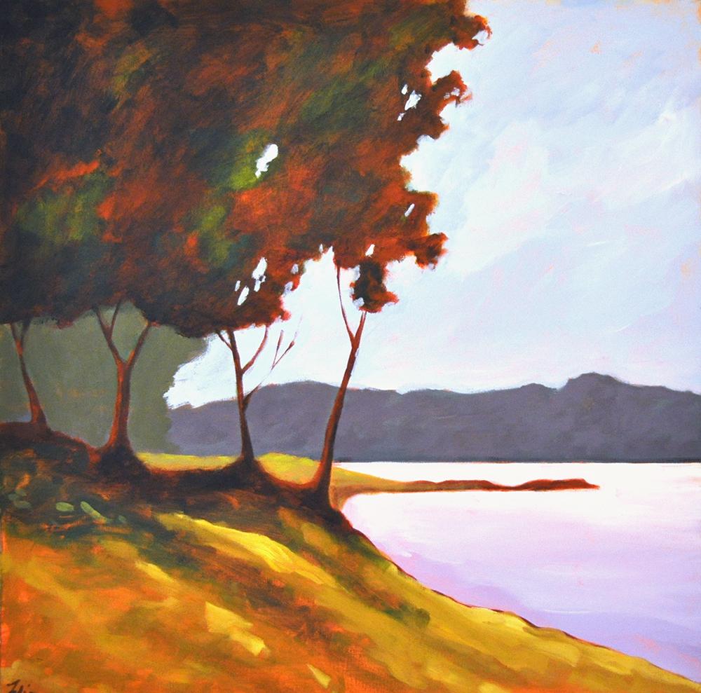 Lakeside Calm,  2015 Acrylic on canvas 24 x 24 inches
