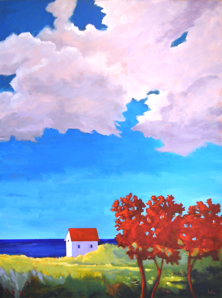 Storm Clouds,  2015 Acrylic on canvas 48 x 36 inches