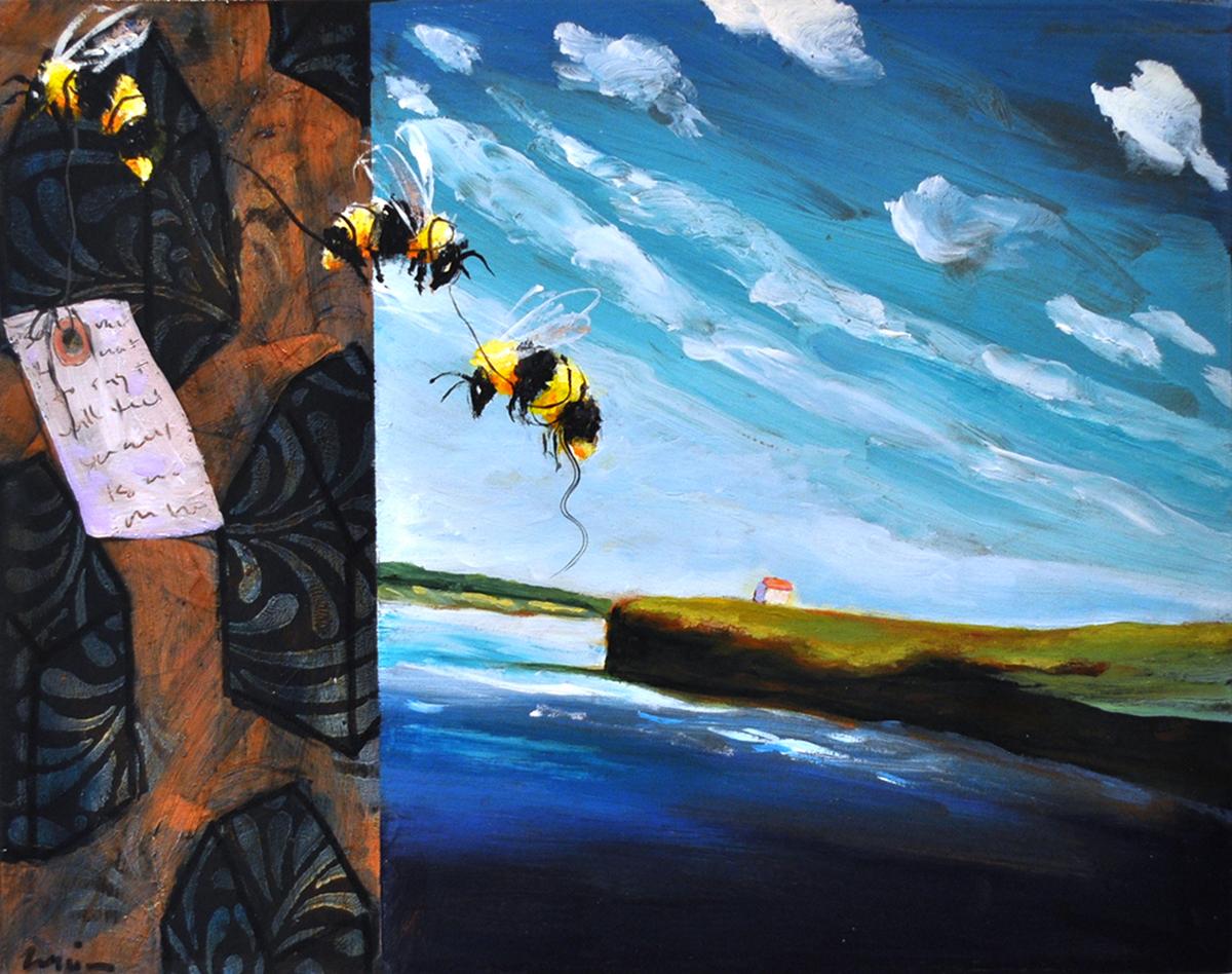 Beeline , 2015 Acrylic on canvas 8 x 10 inch