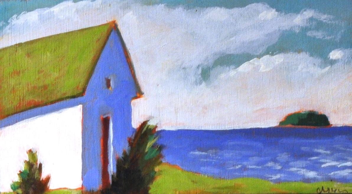Autumn Wind, 2015 Acrylic on canvas 3 x 5 inches