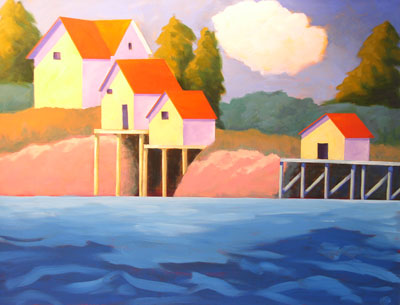 Along the Maine Coast,  2008 Acrylic on canvas 22 x 28 inches