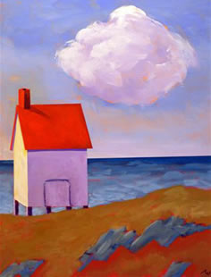 Fish House at Willard Beach, ME,  2008 Acrylic on canvas 20 x 16 inches