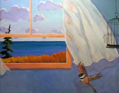 Flight,  2011 Acrylic on canvas 22 x 28 inches