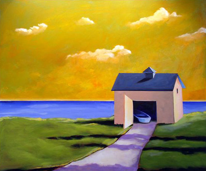Golden Morning Light,  2007 Acrylic on canvas 28 x 36 inches