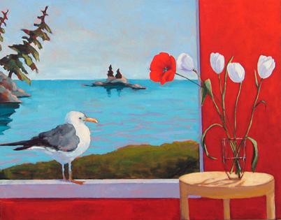 Maine Summer,  2011 Acrylic on canvas 22 x 28 inches