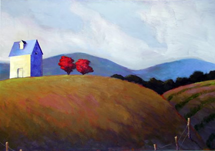 Mountain View , 2008 Acrylic on canvas 18 x 24 inches