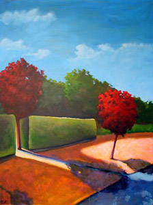 Between, 2006 Acrylic on canvas 48 x 36 inches