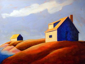 On the Edge,  2007 Acrylic on canvas 18 x 24 inches