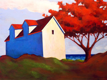 Red Maple by the Sea,  2008 Acrylic on canvas 16 x 20 inches