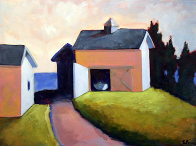 Still in the Boat House,  2007 Acrylic on canvas 18 x 24 inches