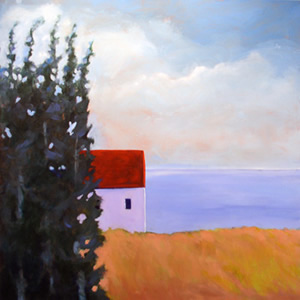 Stand of Pines,  2007 Acrylic on canvas 36 x 36 inches
