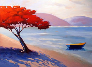 Shadow on the Sand,  2008 Acrylic on canvas 28 x 36 inches