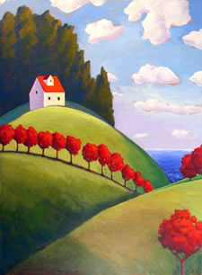 Top of the Hill,  2008 Acrylic on canvas 48 x 36 inches