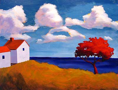 View Out My Window,  2007 Acrylic on canvas 30 x 36 inches