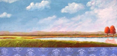 Along the Rivers Edge, 2006 Acrylic on canvas 24 x 48 inches